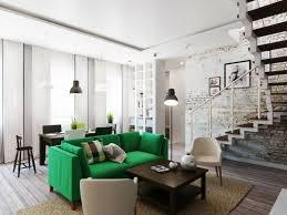 canapé vert canapé vert dans le salon contemporain et idées déco assortie