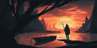 damian bonczyk environment sketch sunset