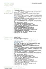 Sample Painter Resume by Sample Resume For Painter Resume Cv Cover Letter Abstract Painter
