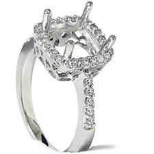 engagement ring setting 1 2ct princess cut halo diamond engagement ring setting