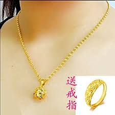 girl gold necklace images Generic alluvial_ gold necklace pendant women girl jpg