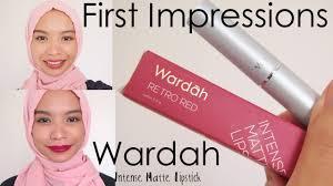Wardah Matte Lipstick impressions wardah matte lipstick localseries