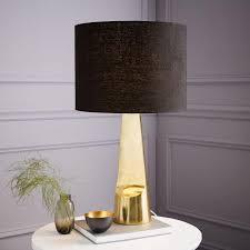 brass metal table lamp