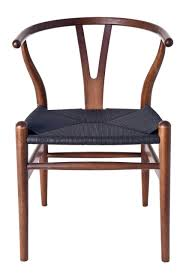 replica hans wegner wishbone chair dark walnut frame grain not