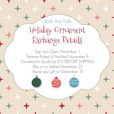 ornament exchange around