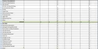 Construction Spreadsheet Templates Free Residential Construction Cost Estimator Excel Estimating