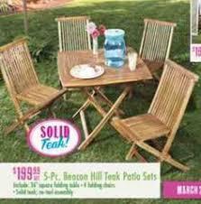 7 pc teak outdoor dining set via tree shops 699 99