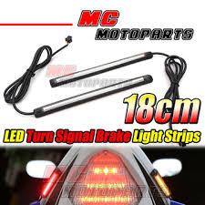 led light strip turn signal rear tail brake turn signal 180mm led strip lights for cbr600 f4i