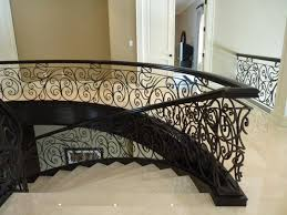 Fer Forge Stairs Design Hand Rails Continental Custom Iron