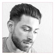 mens hairstyle fine hair along with tapered sides with natural