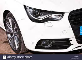 audi headlights white audi a1 headlights and bumper winchester england uk stock