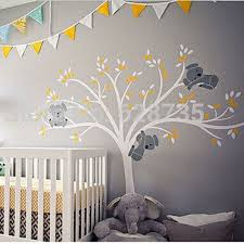 popular large tree nursery buy cheap large tree nursery lots from oversized large koalas tree vinyl wall sticker for kids room decor baby nursery wall decals