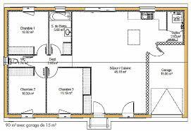 plan maison en l plain pied 3 chambres plan maison plain pied 100m2 3 chambres idées décoration intérieure
