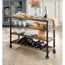 kitchen storage carts on wheels islands and mobile island benches