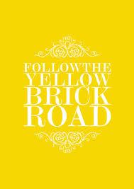 follow the yellow brick road a4 by margin on etsy happy happy