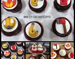 firefighter cupcake toppers fondant cake cupcake toppers for all occasions by setoppers