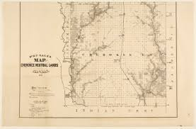 Railroad Map Missouri River Fort Scott And Gulf Railroad Map Of The Cherokee