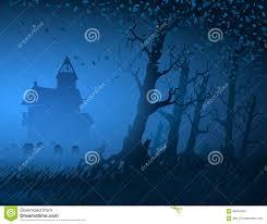 light halloween background fog light trees mystical night stump background hut cemetery