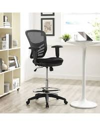 Drafting Table Chair Christmas Savings On Modway Articulate Drafting Chair In Black