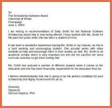 8 recommendation letter for phd scholarship sample