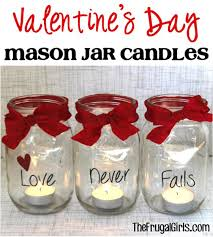 Mason Jar Candle Ideas 54 Mason Jar Valentine Gifts And Crafts Diy Joy