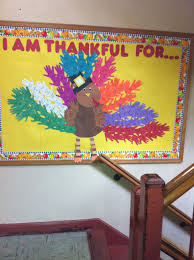 thanksgiving bulletin board each grade get a color and each kid