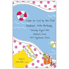 pool party invitations paperstyle
