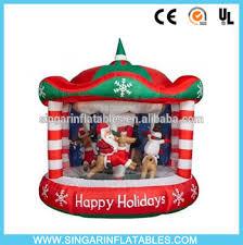 christmas carousel 12ft rotating animated christmas carousel airblown