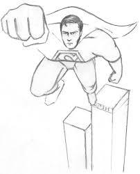 sketch superman
