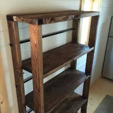 diy wood shelf brackets reclaimed rolling storage plans corner diy