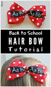 back to school hair bows how to make a hair bow step by step darice