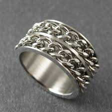 thumb rings for men the thumb rings style 316l stainless steel wide silver
