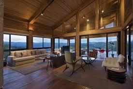 modern mirrored living room with red spotlight floor lamp luxury