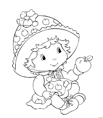 strawberry shortcake free coloring pages on art coloring pages