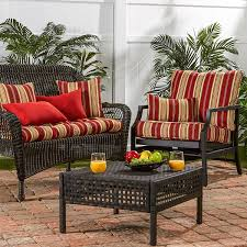 Replacement Patio Cushions Living Room Exterior Soft Red Sunbrella Replacement Cushions With