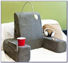 bed rest pillow with arms and pockets bedroom home decorating