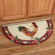 Rooster Rugs Round by Kitchen 41 Villa De Chanticleer Rooster Slice Rug Inside Rooster