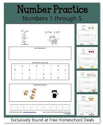free math worksheets numbers 1 5 instant download free
