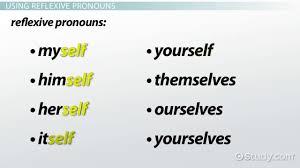 reflexive pronoun definition u0026 examples video u0026 lesson