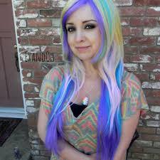 rainbow black friday shop pastel rainbow wig on wanelo