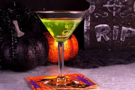 red martini drink ghostbuster cocktail recipe with midori and baileys
