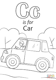 letter c is for car coloring page free printable coloring pages