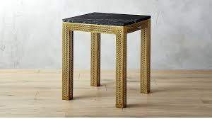 Marble Side Table Perforated Black Marble Side Table In Side Tables Reviews Cb2