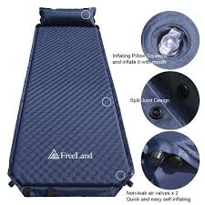 amazon com freeland camping self inflating sleeping pad with