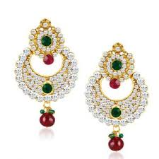 diamond earrings price buy sukkhi chandbali gold plated australian diamond earrings