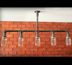 diy mason jar light with iron pipe lighting mason jar island light mason jar lights mason jar soap