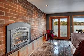 Fireplace Inserts Seattle by Craftsman Master Bedroom With Carpet U0026 Metal Fireplace In Seattle