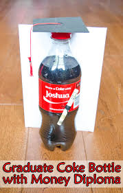 graduation gifts college graduate coke bottle with money diploma gift tutorial graduation