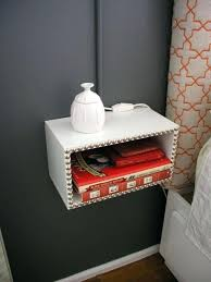 night stand ideas floating nightstand diy bedroom wall mounted bedside table