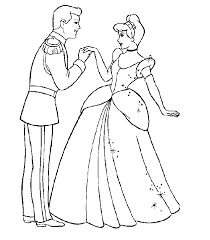 cinderella coloring pages kids coloring